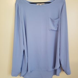Ann Taylor Loft Blue Top